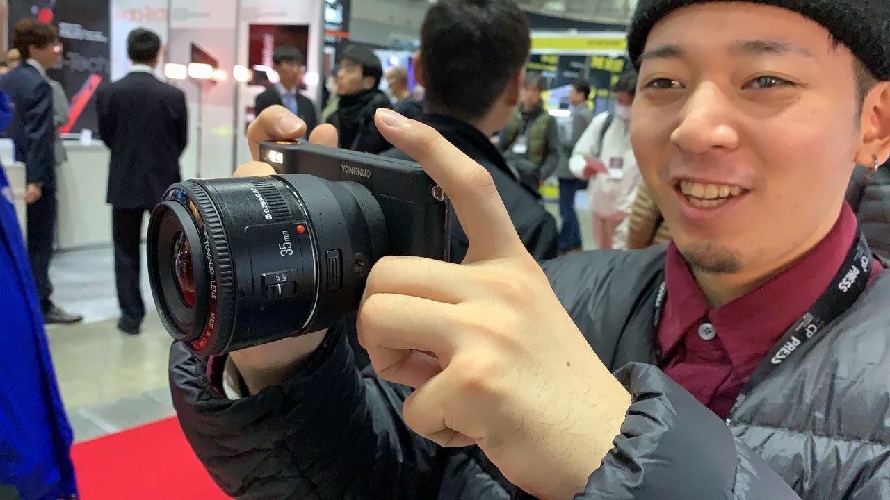 カメラかな?スマホかな? YONGNUOのAndroidなカメラを発見! #CPPLUS