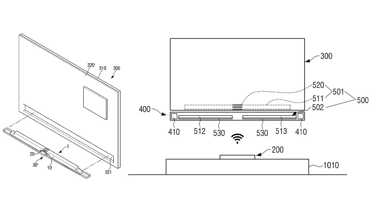 【家電】テレビの背面から伸びるケーブルが消えるか。サムスン、ワイヤレスなTV壁付けシステムを特許申請