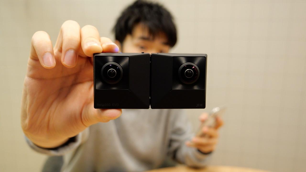 【1分レビュー】折りたたみカメラとな…? Insta360 EVO