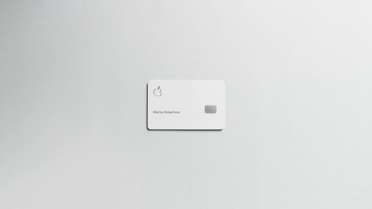 Appleカードの物理カード、ミニマルの極みって感じで超カッコいいんだけど!