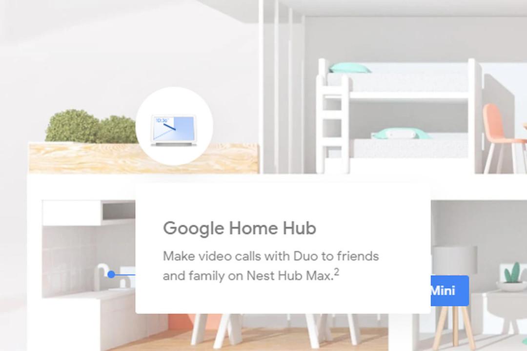 Googleの新スマート製品「Nest Hub Max」の文字が一瞬だけ見えてしまう