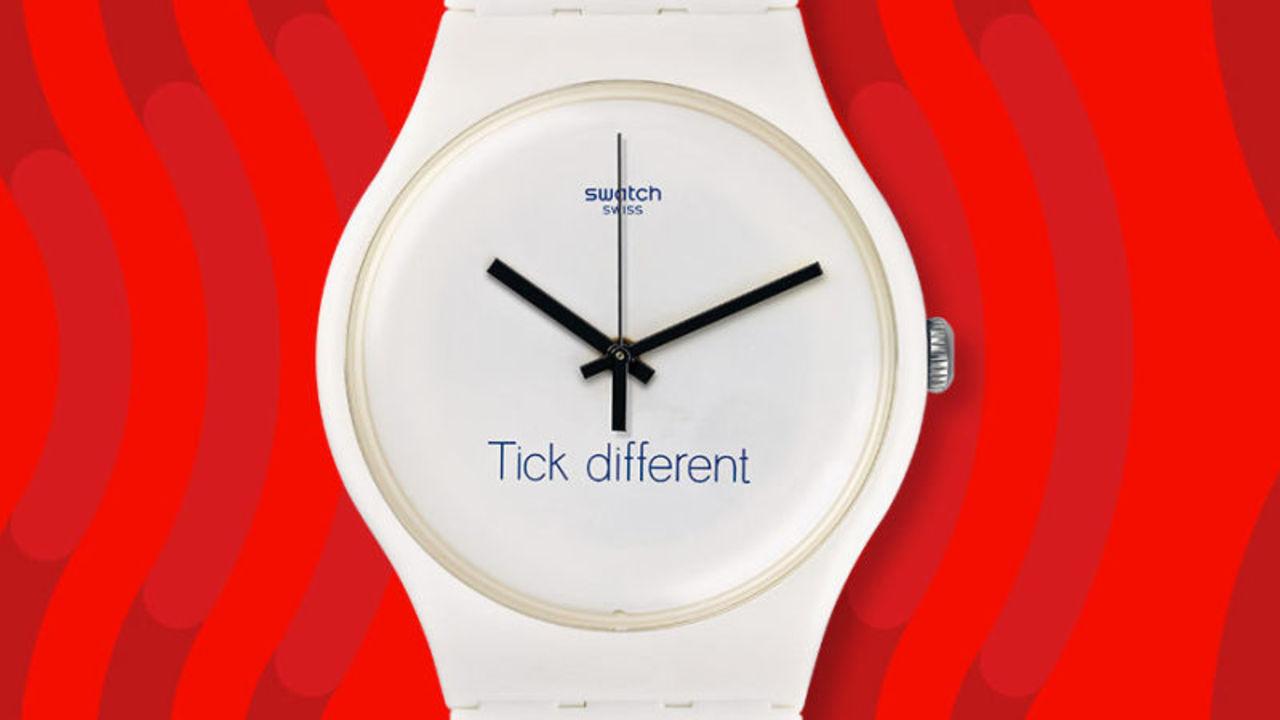 Apple、Swatchとの広告スローガン対決に敗れる