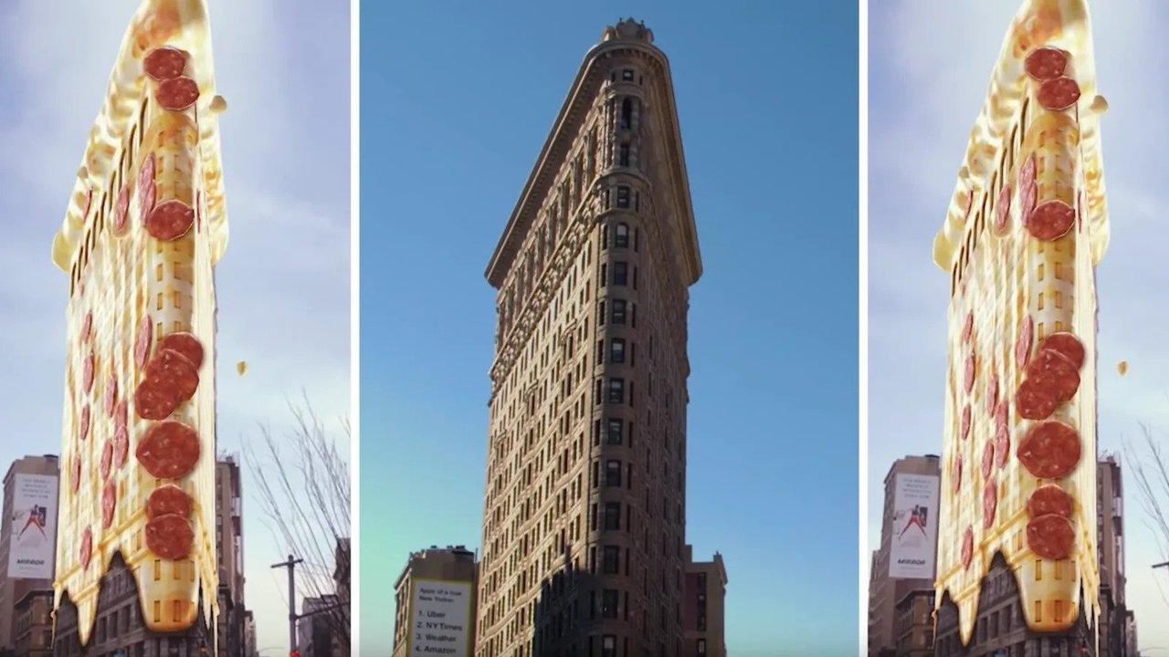 建物がピザに!? SnapchatがARの新機能を追加