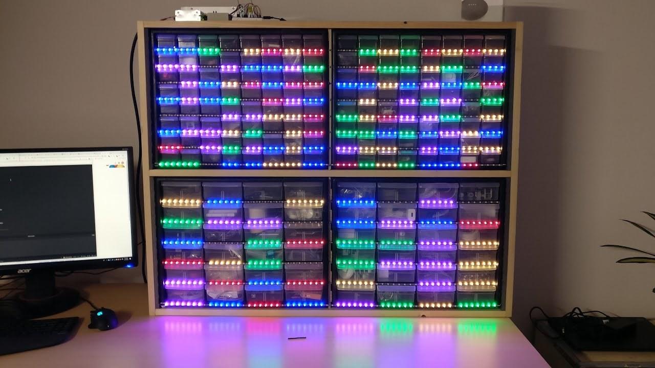 音声コマンドで棚が光る! Google Homeで整理整頓が楽チンになるDIY