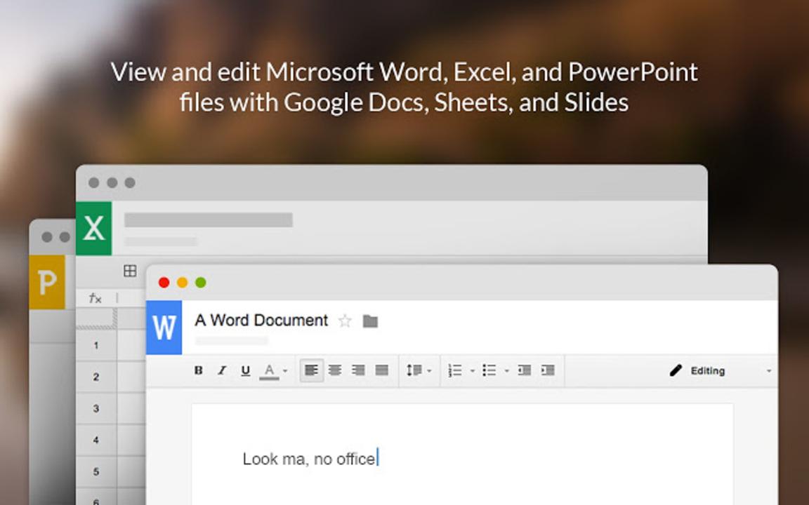 GoogleドキュメントからWordやExcel、PowerPointの直接編集が可能になります