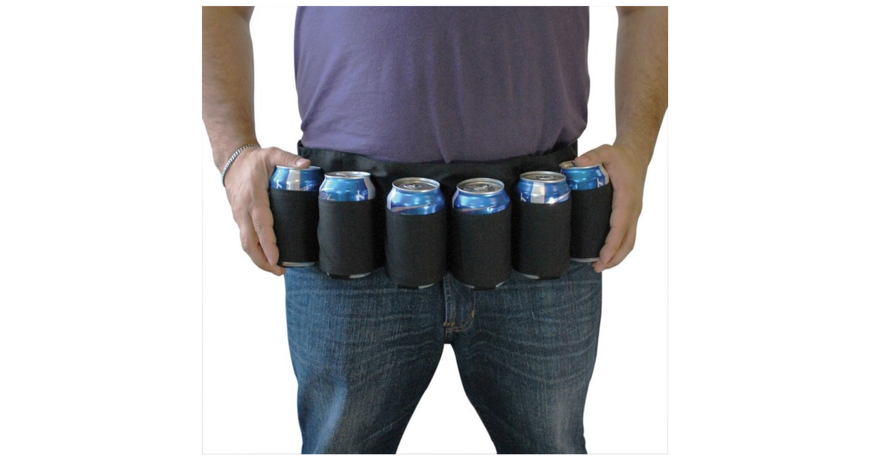 変身ベルト的なビールホルダー発見! 今年の夏にブームくるかな?