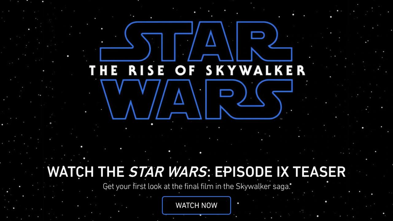 『スター・ウォーズ/エピソード9』予告編がついに解禁。原題は『ザ・ライズ・オブ・スカイウォーカー』に
