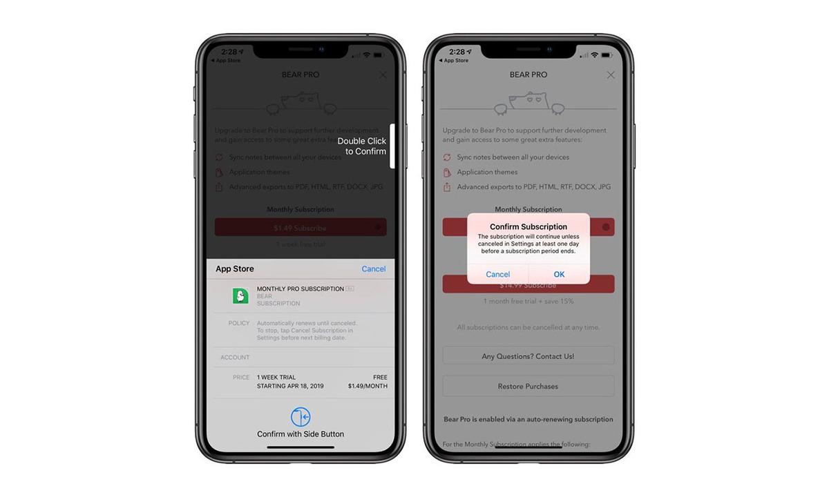App Storeでのアプリ購読がワンステップ安全になります