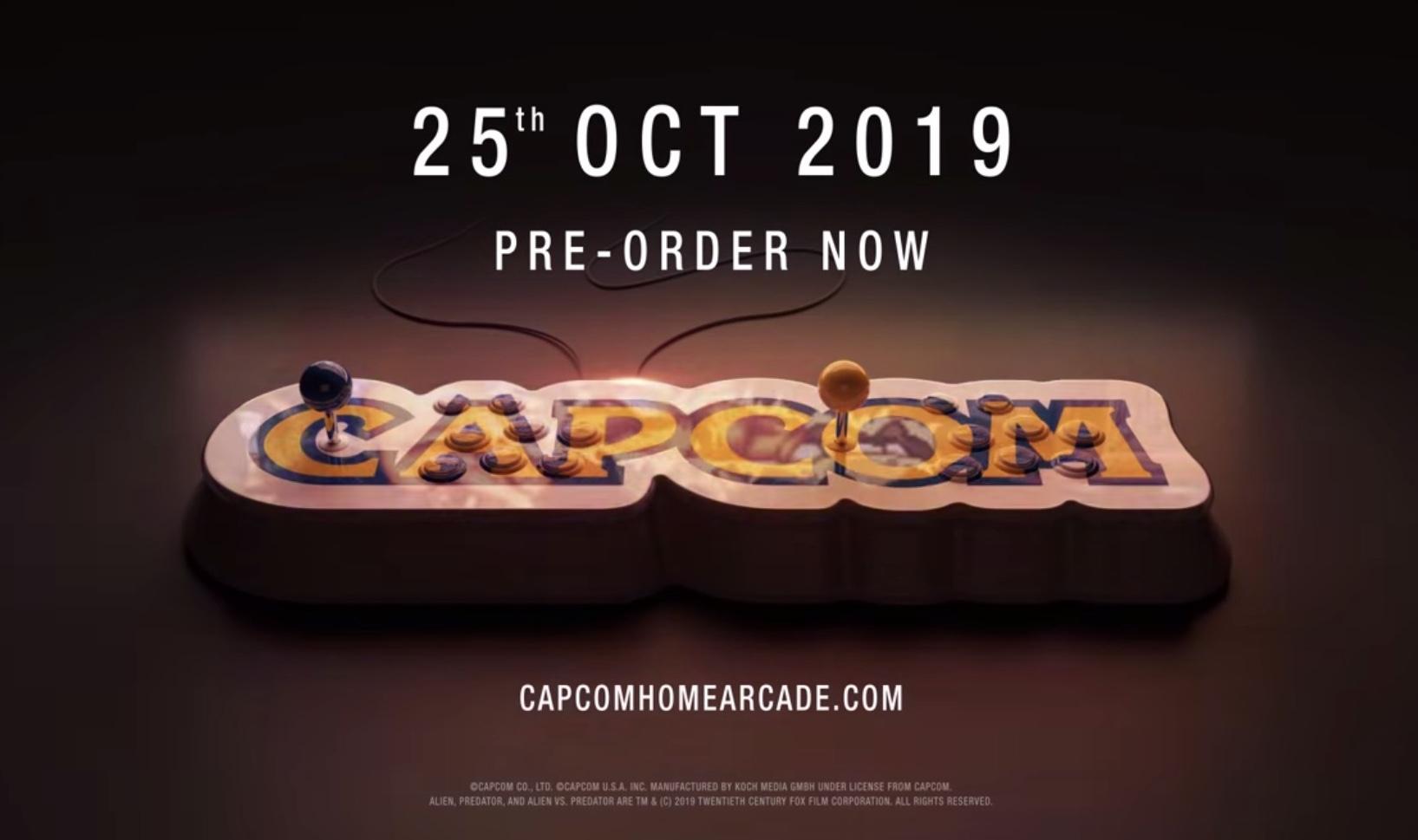 CAPCOMアーケードタイトルが詰まったコンソール発表。『エイリアンVSプレデター』も収録!