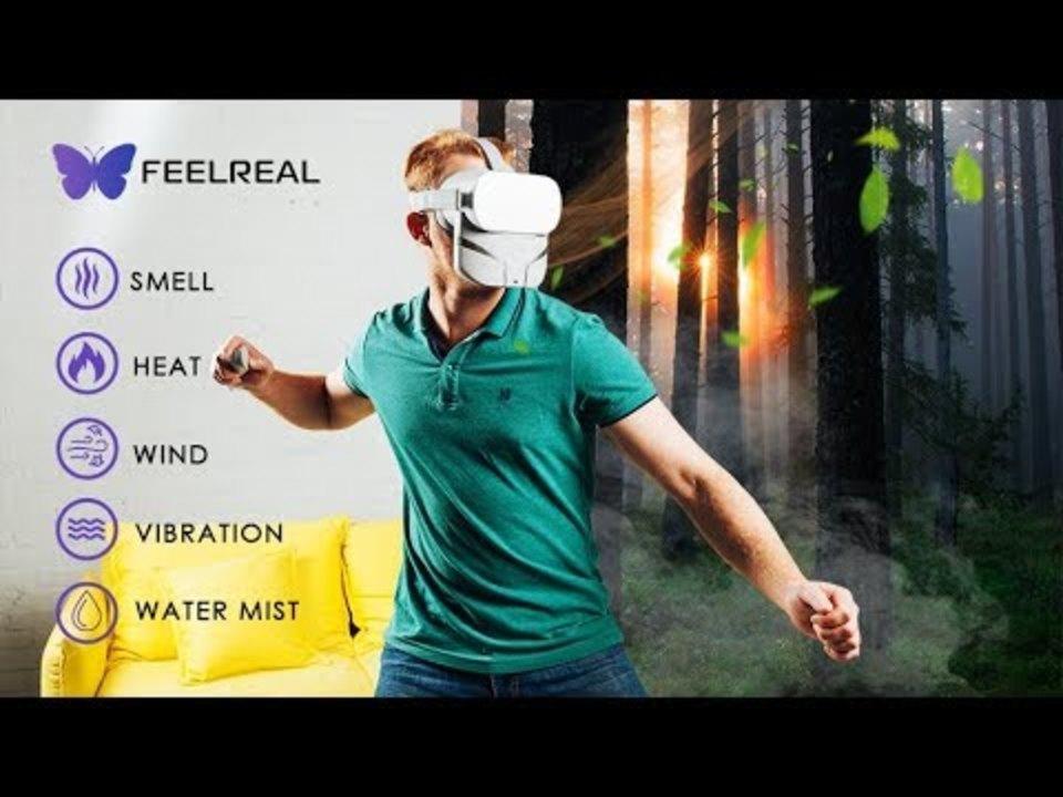 世界初。顔面が震えて風や香りで没入感を高めてくれるVRマスク