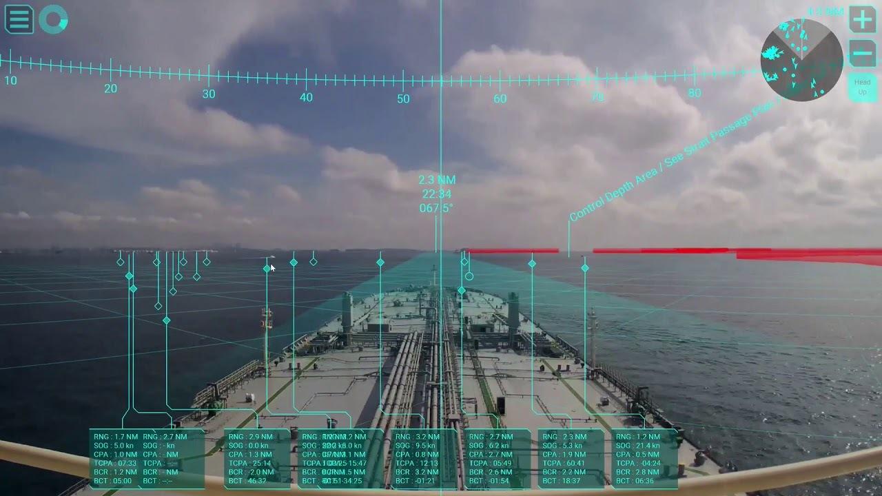 ARで表示する航海情報システム。現実とフィクションがまた一歩近づいた