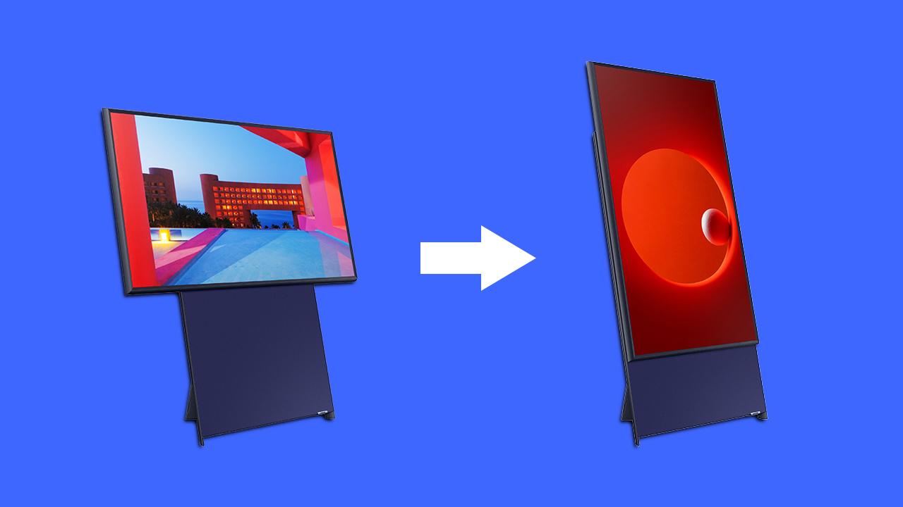 Samsung「世界には縦動画が多すぎる…よし、縦型になるTVを作ろう」