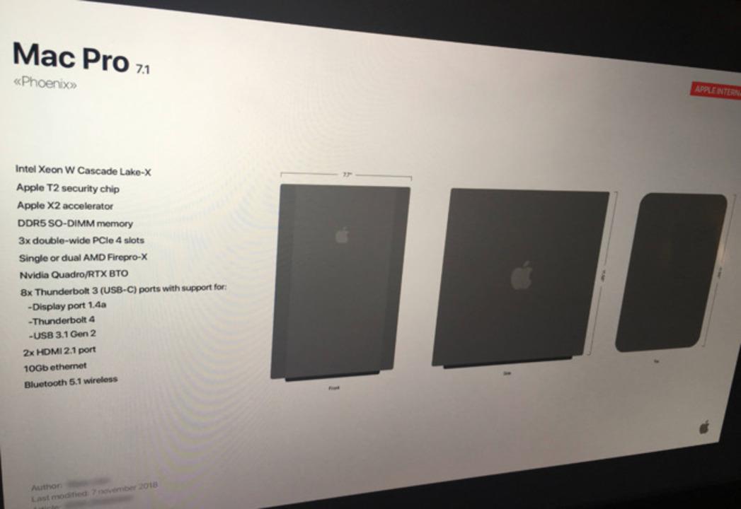 「新型Mac Pro」らしきスライドがリーク! …ん、なんだか変だぞ?