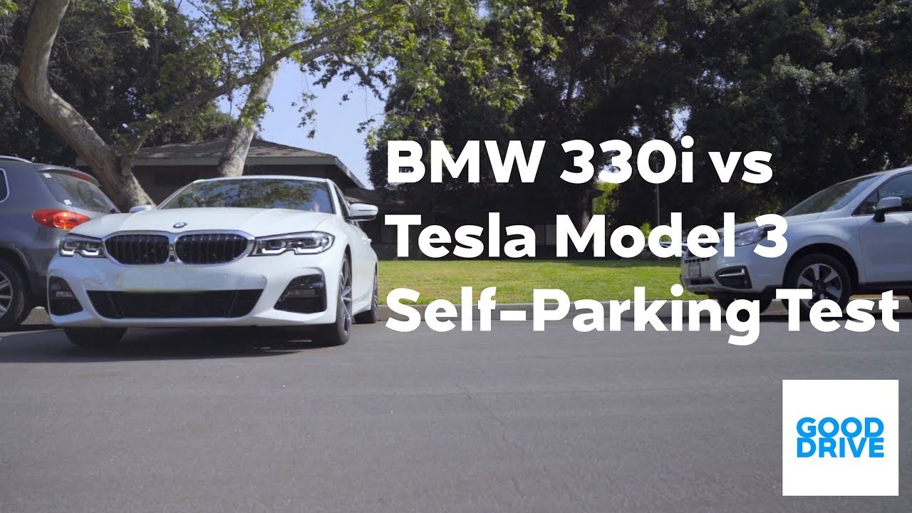 Tesla対BMWの自動縦列駐車対決!