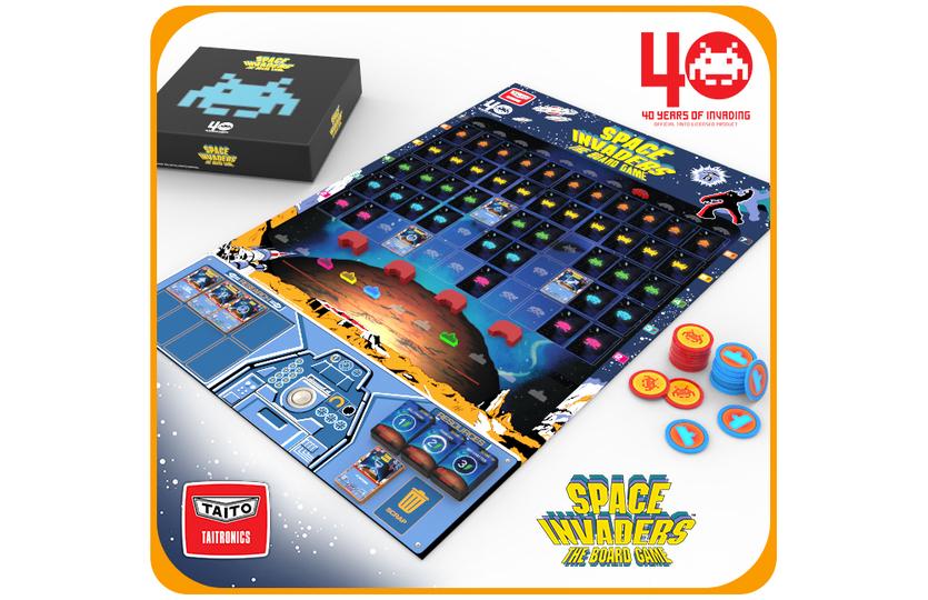 なんと4人プレイOK。『スペースインベーダー』のボードゲームがクラファン中です