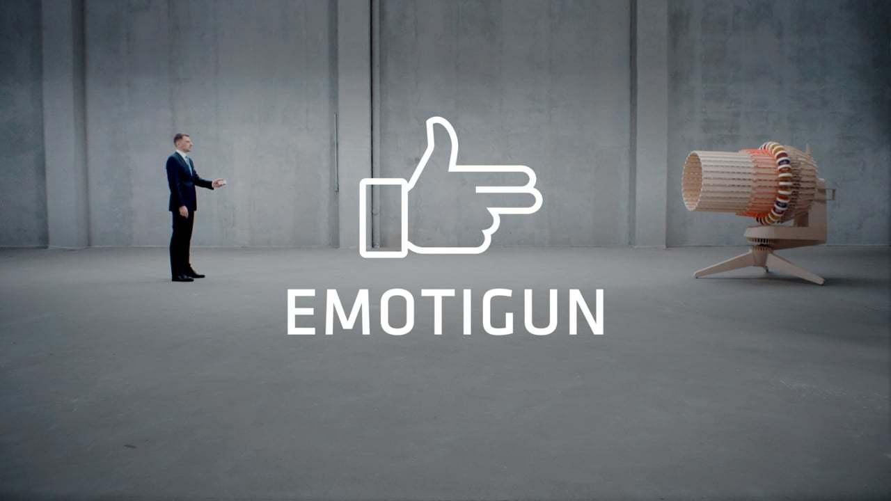 顔文字で感情を射撃するガトリング砲「Emotigun」