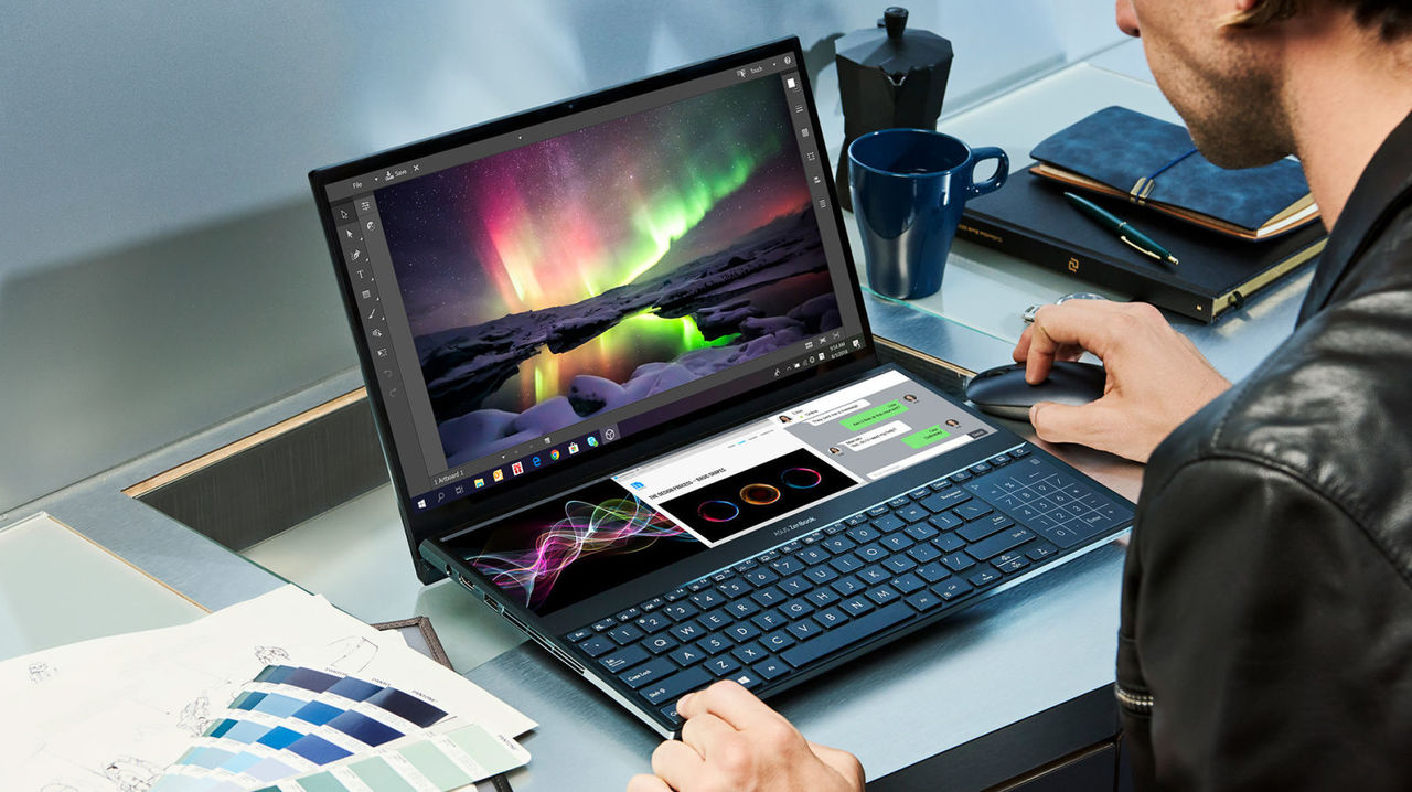 Asus、「デュアルディスプレイノートPC」ZenBook Pro Duoを発表。Touch Barもこれにして