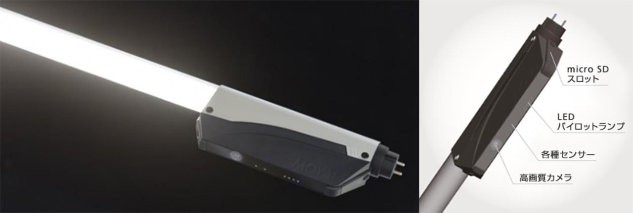 4G通信に対応したLED蛍光灯型の防犯カメラ、5月31日から電車内に試験導入