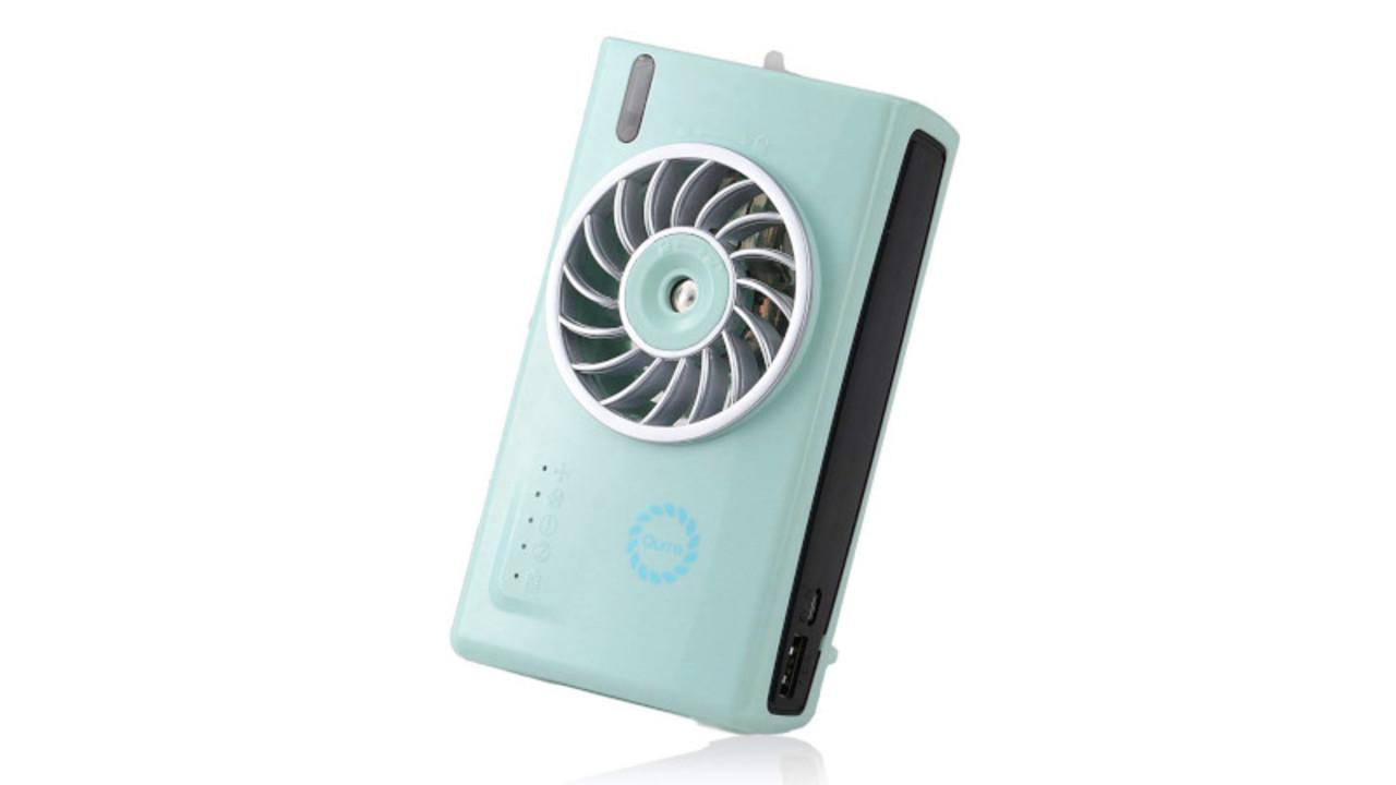 オールシーズン活用できる! 加湿器やモバイルバッテリーにもなる卓上扇風機