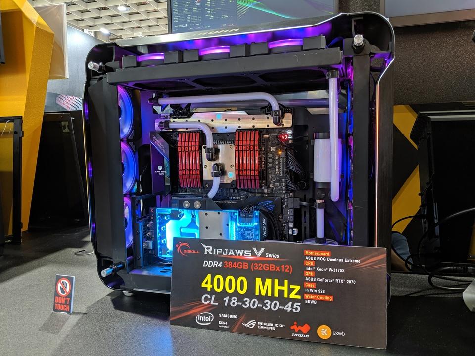 メモリが384GBのパソコン。ストレージじゃないよ、RAMだよ #COMPUTEX 2019