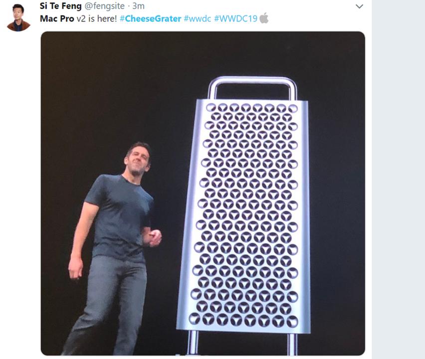 速報!新Mac Proがおろし金そっくりな件 #WWDC19