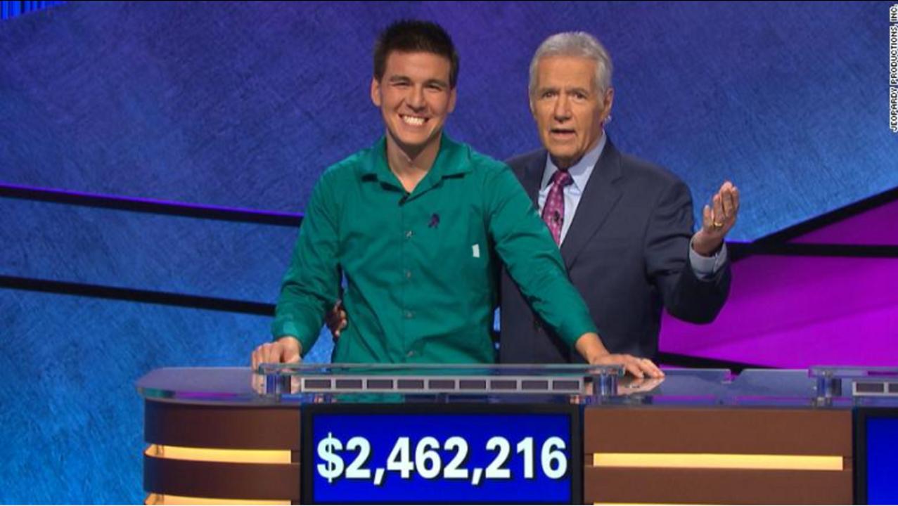 32連勝で賞金2.6億円。全米驚愕のクイズ王『Jeopardy!』ジェームズついに敗る。祖母は日本人、本業はスポーツ賭博