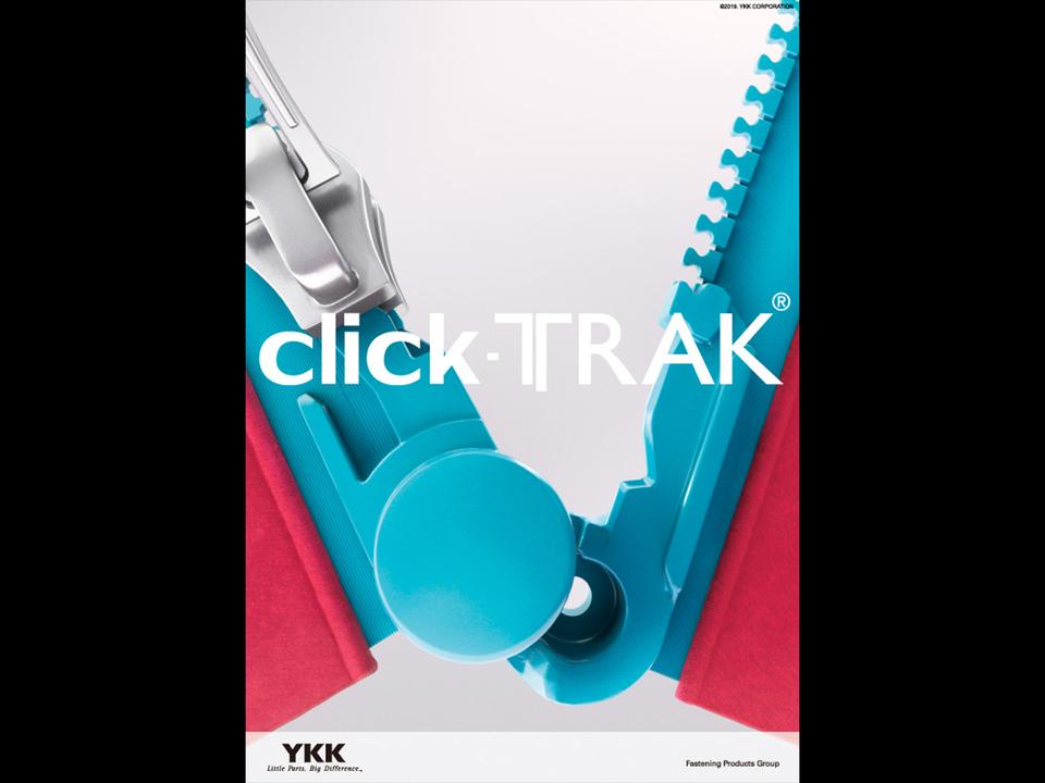 ファスナーが閉めやすく進化。YKKの「click-TRAK」は「押して閉める」