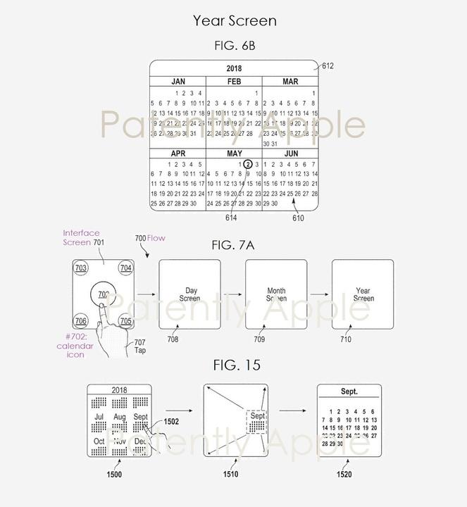 将来、Apple Watchで月/年間カレンダー表示が可能になるかも?