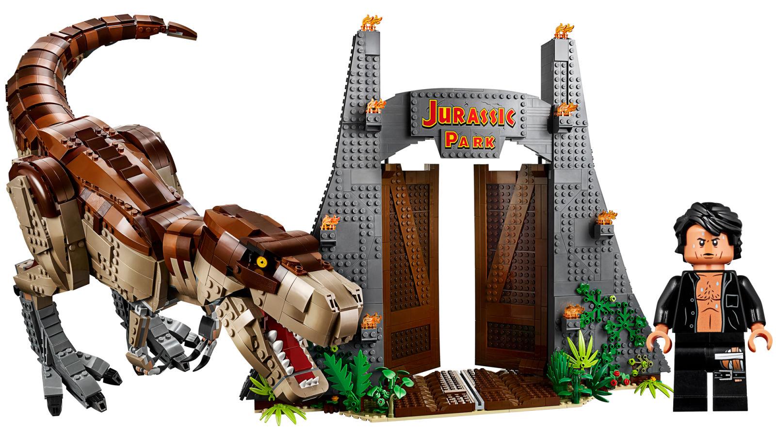 レゴの『ジュラシック・パーク』セットが登場! 胸はだけたジェフ・ゴールドブラムが手に入るんだ、いっちゃうしかないでしょ