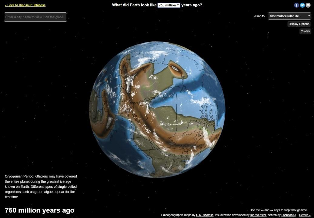 グリグリ動かせるよ! 7億5000万年前までさかのぼって地球を見られる大陸移動シミュレーター