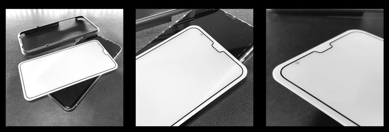 サファイア製のiPhone保護シートはヒンヤリしている