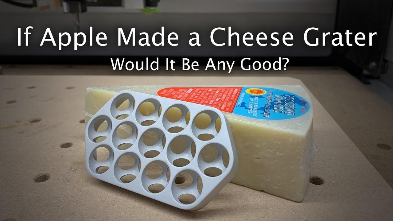 新型Mac Proのおろし金でチーズを下ろしてみた