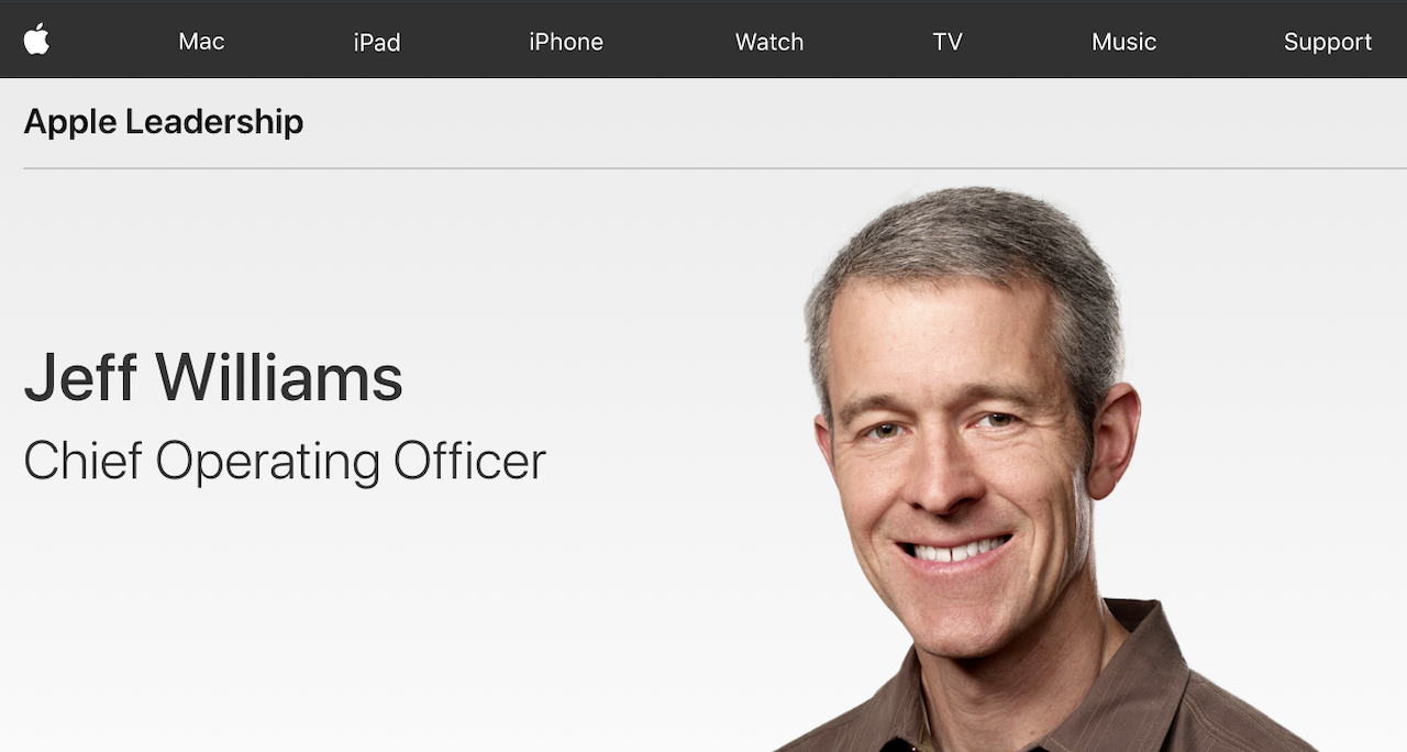 ジョニー・アイブが去ったあとAppleの製品開発に影響力を発揮する「ジェフ・ウィリアムズ」ってどんな人?