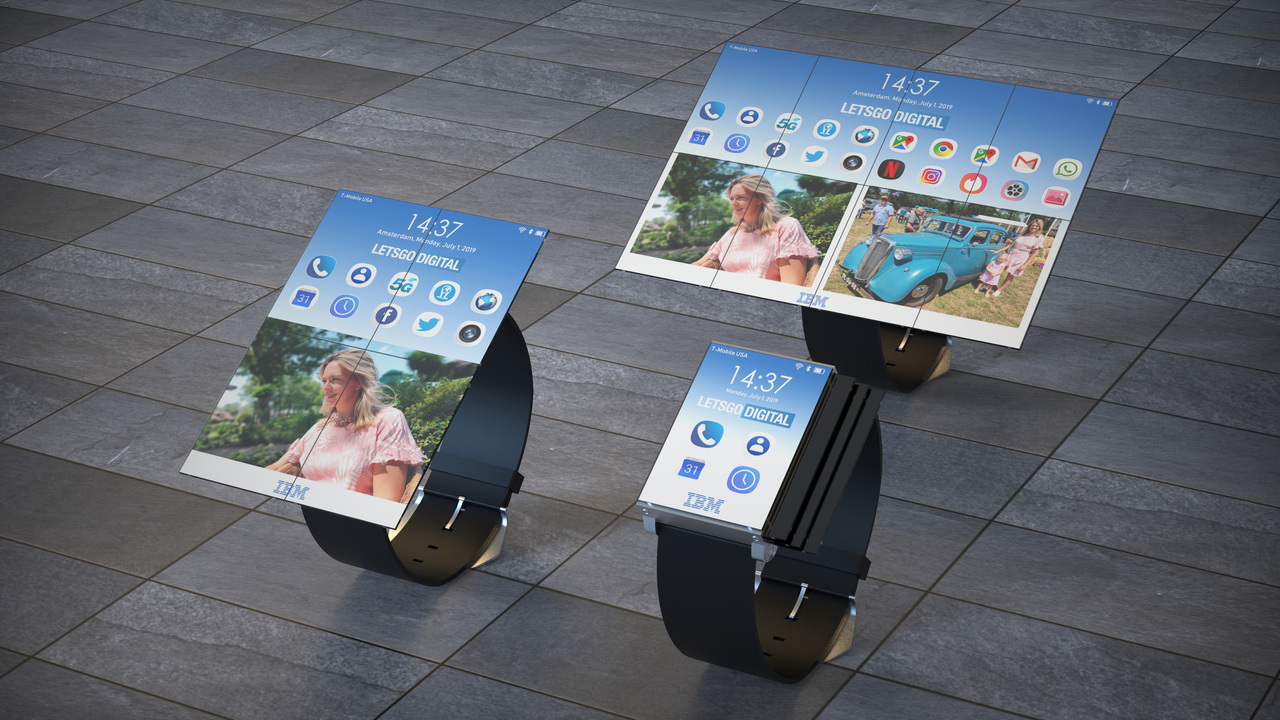 IBMから狂気のイノベーション「8つ折り大画面スマートウォッチ」