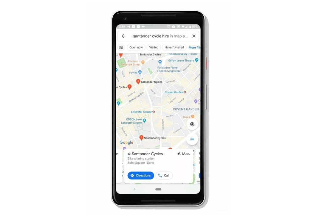 Googleマップの進化が止まらない! 今度は、シェアサイクルの場所と台数を表示してくれるように