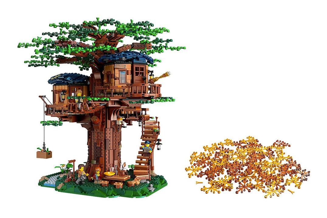 生まれも見た目も植物。植物由来のサスティナブル素材を使ったレゴのツリーハウスが発売