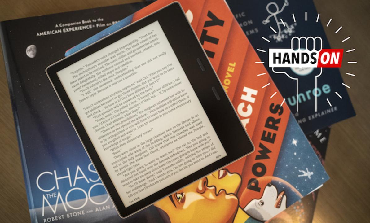 Amazonの新Kindle Oasisハンズオン:さよならブルーライト。ラグジュアリー感はさよならせず