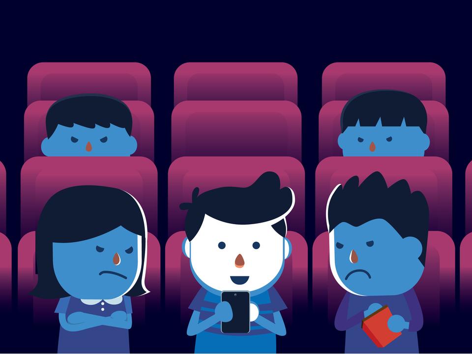 もうほんとに、なんで映画館でスマホ出すの?