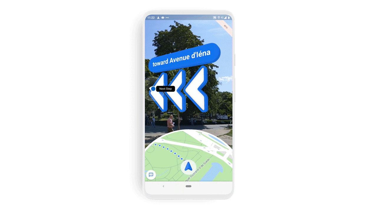 Google マップのARナビがiPhoneでも使えるように!