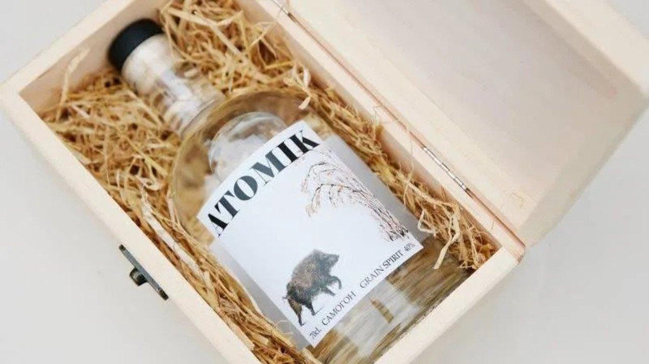 飲んでも安全。安全だよ。チェルノブイリで育てた穀類で作ったウォッカ「ATOMIK」