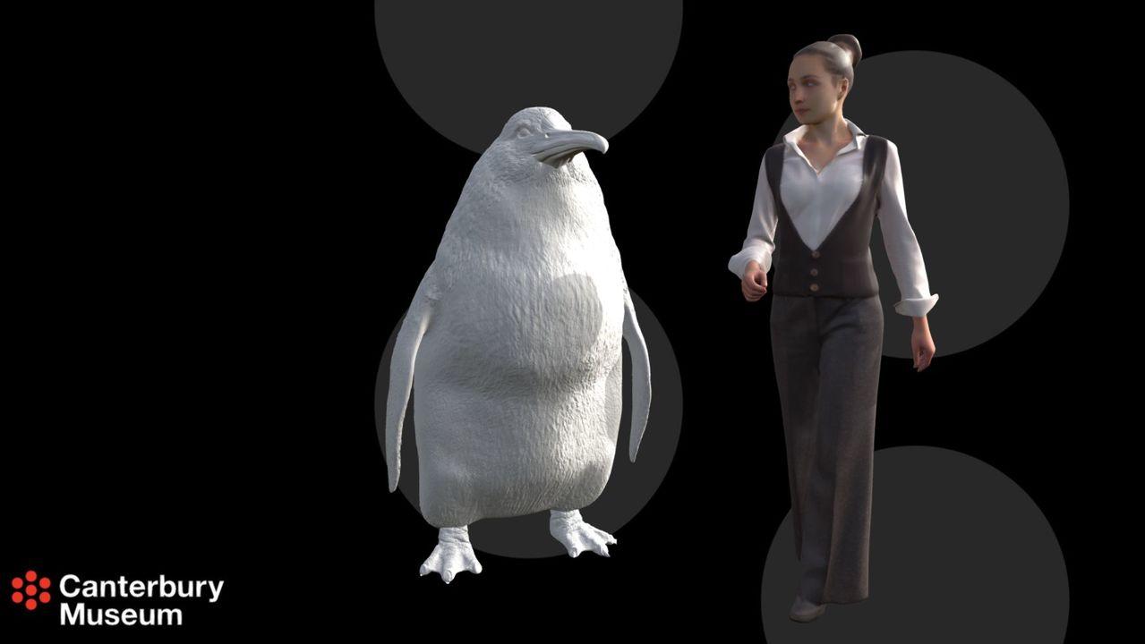 ちょっとコワいけど見てみたい。大昔には人間サイズのペンギンがいた