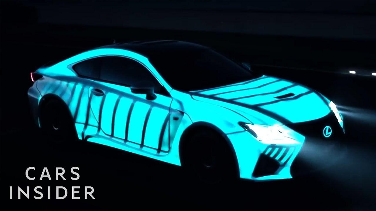 電気で光る塗料「LumiLor」を使えば、クルマを映画『トロン』みたいにできちゃう