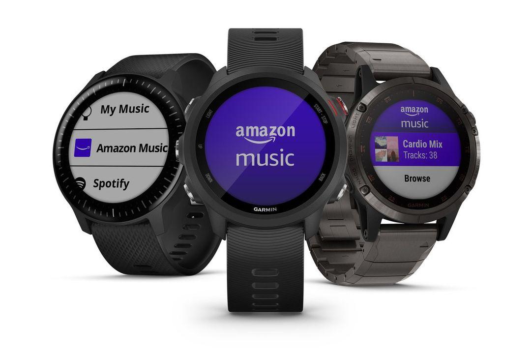 Amazon Musicがアプリでスマウォに対応するのは初だよ。Amazon MusicがGarminのスマートウォッチに対応