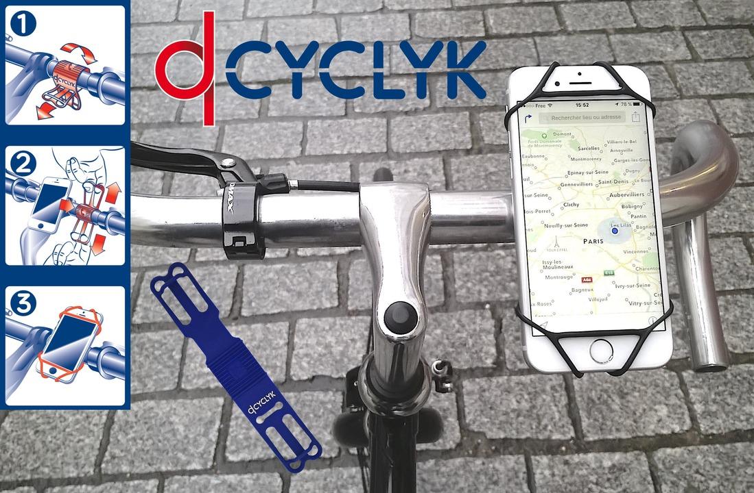 工具は一切不要! フランス発のミニマルな自転車用スマホホルダー「CYCLYK」