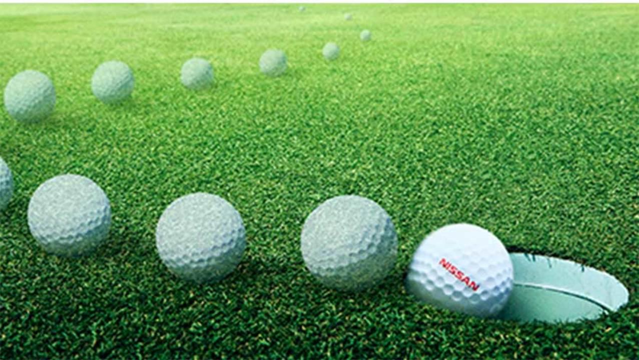 チートじゃないよテクノロジーだよ。日産が作った勝手にカップを目指すゴルフボール