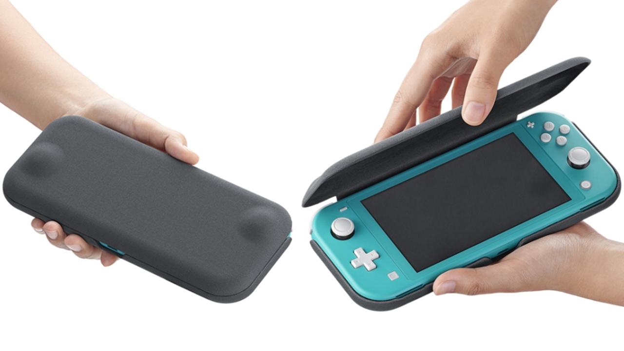 Nintendo Switch Lite用ケース、ムダのないぴったりデザインで登場