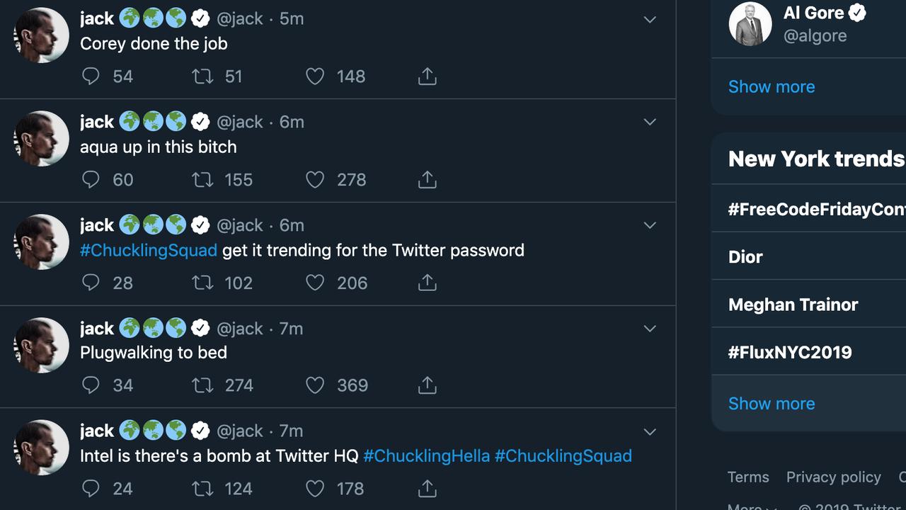 Twitter CEOのアカウントが乗っ取られて意味不明ツイートを連投