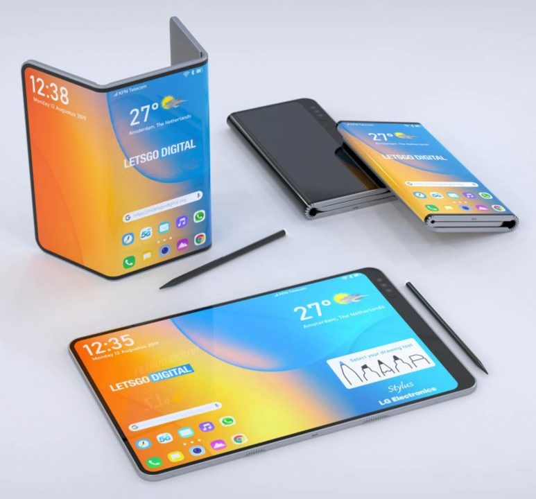 折りたたみiPad Pro感、なきにしもあらず? 特許を元に作られたLGの「三つ折り型タブレット」のレンダリング画像