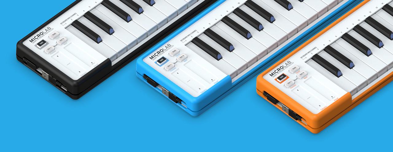 ポータブルなMIDIキーボード「MicroLab」をArturiaが発表。3カラーが可愛らしい
