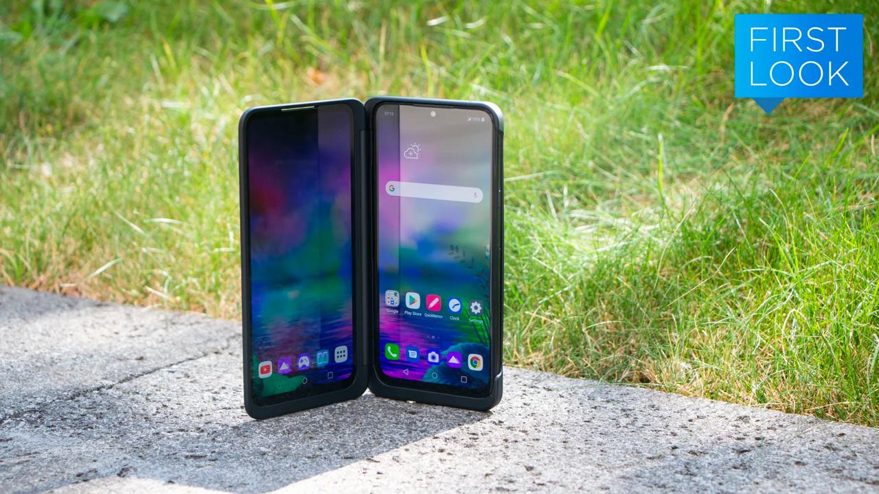 LGの「G8X ThinQ」触ってきた。デュアルスクリーンというかデュアルスマホ感すごい